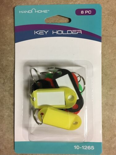 Organize your keys Key Ring Name Tag 8 Pieces Assorted Colors
