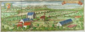 SCHLOSS-DELLING-SEEFELD-ANDECHS-AMMERSEE-PANORAMA-KUPFERSTICH-WENING-1701-I77