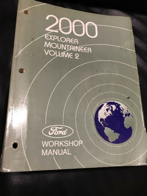 2000 Ford Explorer Mercury Mountaineer Workshop Repair Manual Vol  2 Free Ship