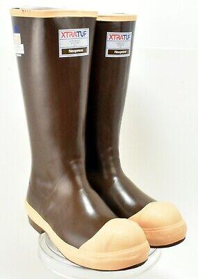 Copper /& Tan XTRATUF Legacy Series 15 Neoprene Steel Toe Mens Fishing Boots 22271G