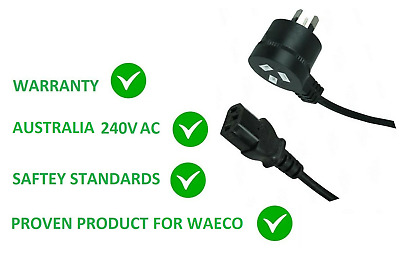 240V WAECO CF CFX FRIDGE POWER CABLE LEAD CORD 2M REPLACEMENT FOR 38-AU-2000B4