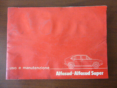 ALFA ROMEO user's manual ALFA ROMEO ALFASUD