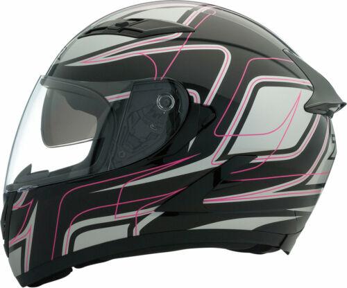 M Z1R Strike OPS SV Full-Face Helmet w// Drop-Down Sun Visor Black//Pink