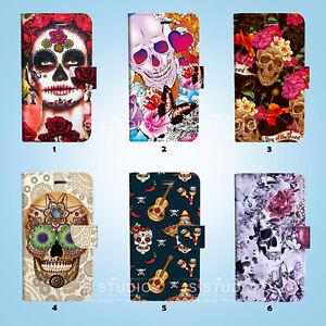 Sugar-Skull-Wallet-Case-Cover-Samsung-Galaxy-S3-4-5-6-7-8-Edge-Note-Plus-026