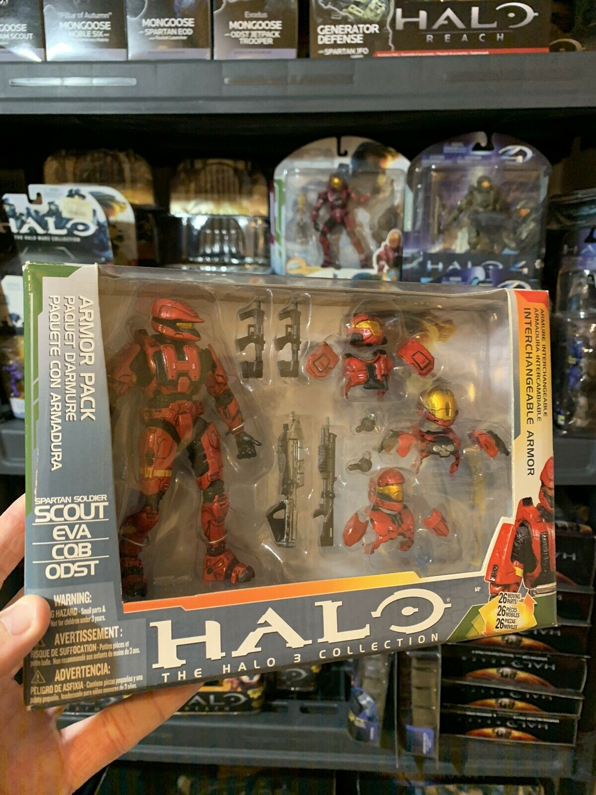 Halo 3 Series 5 rot Scout Armor Pack Set