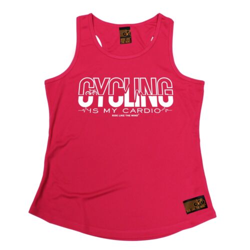 WOMENS Cycling Is My Cardio Breathable tshirt T SHIRT GIRLIE TRAINING VEST