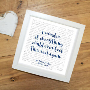 Foo-Fighters-039-Everlong-039-Favourite-Lyrics-Framed-print-Wedding-Gift
