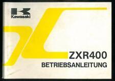 Fahrer Handbuch KAWASAKI ZXR 400 ZX400 L2 1992 Betriebsanleitung Deutsche Manual