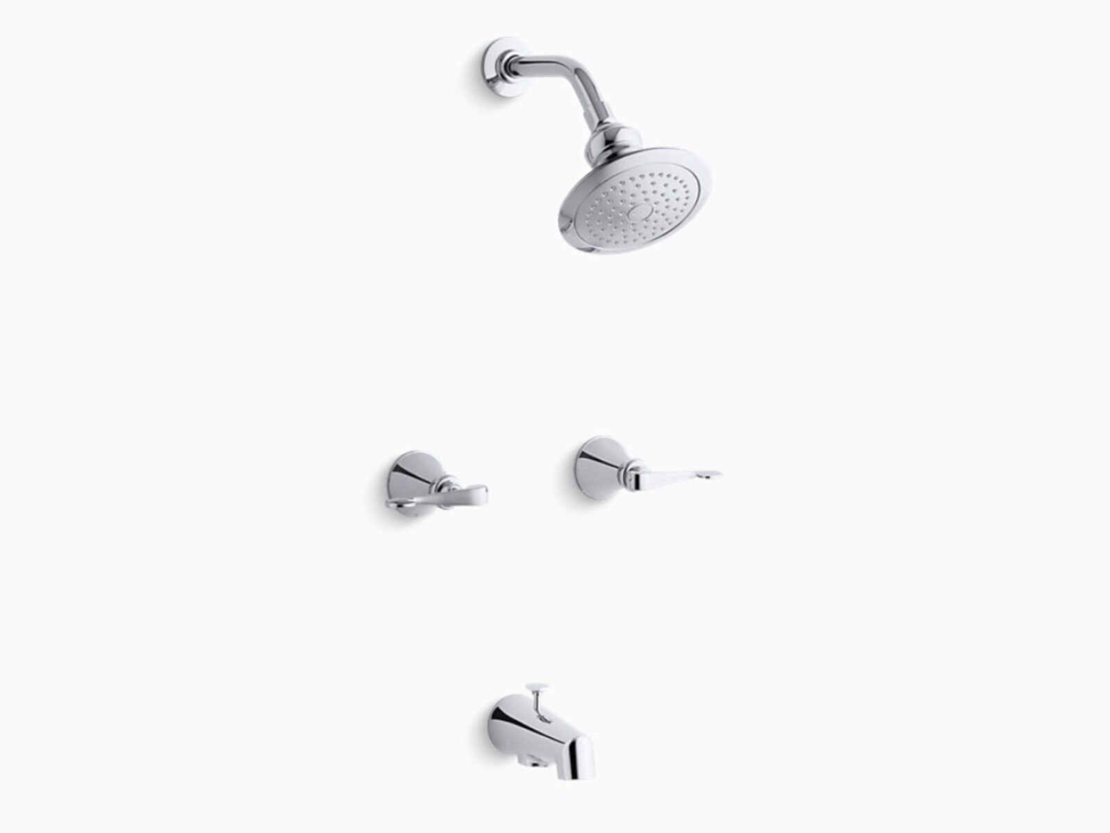 Kohler K 16213 4 Cp Revival Bath And Shower Faucet Trim Only In Polished Chrome