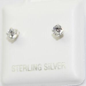 Cubic-Zirconia-3mm-925-Sterling-Silver-Stud-Earrings-3mm-CZ-Earrings
