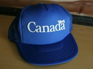 805fc1d5c4d CANADA Vintage 80s Mesh Trucker Snapback Hat Cap New Old Stock One ...
