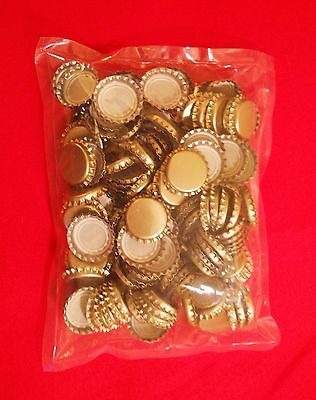 CROWN CAPS 144 GOLD STANDARD 26.5 SIZE NEW FOR SODA & BEER BOTTLES KITS CAPPERS