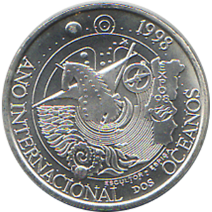 """1000 Escudos 1998 /"""" International Year of the Oceans /"""" KM#707 Details about  /Portugal"""