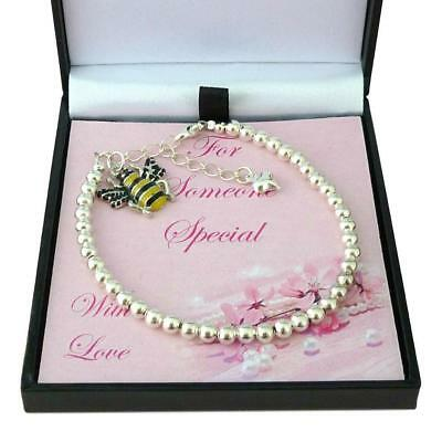 4c25bfca7fda6 Bumble Bee Bracelet in Gift Box for Someone Special, Mum, Sister, Friend  etc | eBay