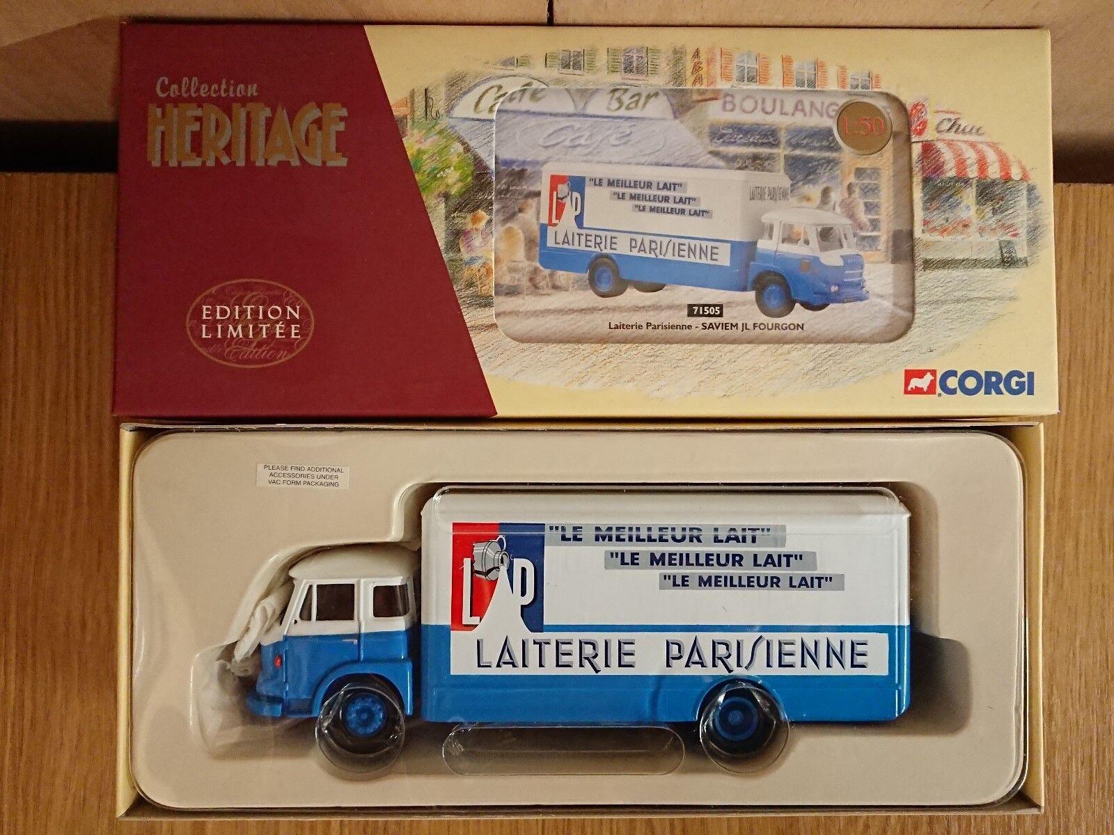 CORGI 71505 SAVIEM JL baggage car la laiterie parisienne Ltd Edition No 0910 de 1500