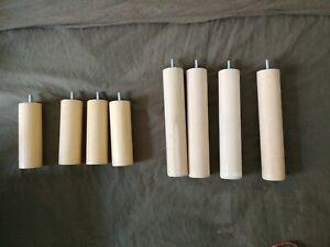 Pieds de lit en bois x8