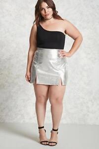 Forever21-Plus-Size-Metallic-Mini-Skirt-2X-3X
