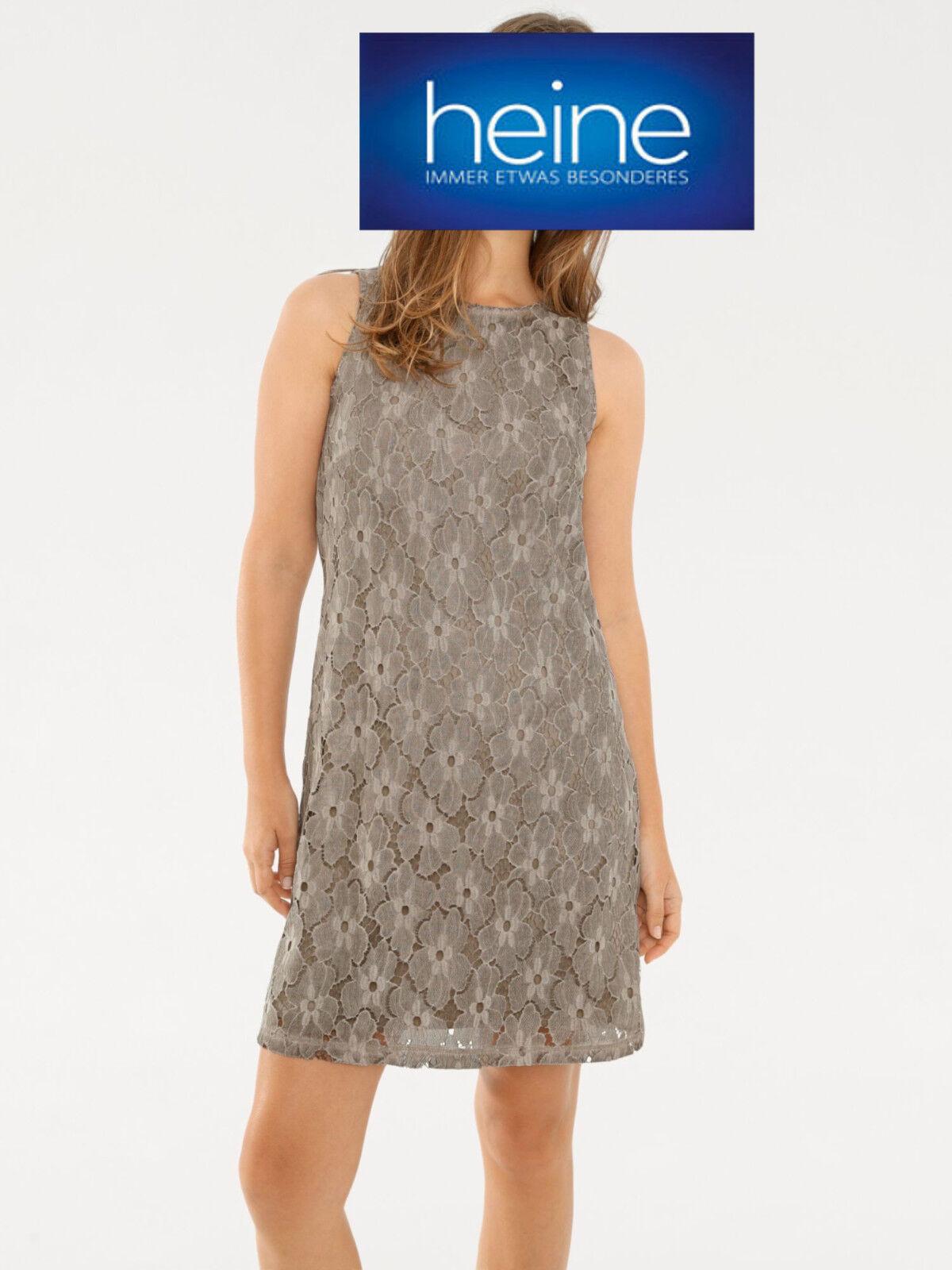 details zu spitzenkleid mit oil dyed waschung b.c. heine. taupe. neu!!! kp  59,90 € sale%%%