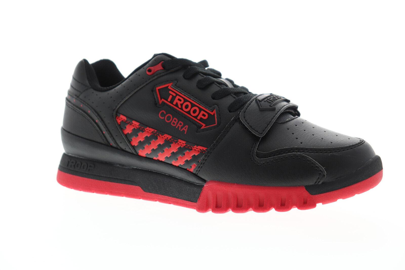 Mundo de tropa Cobra Para Hombre Negro Sintético Low Top Tenis Deportivas Zapatos Con Cordones