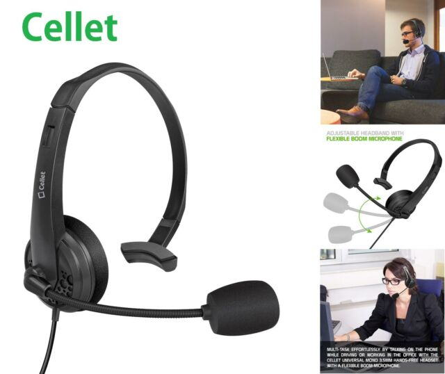 Cellet 3.5mm Wired Headset For Home Office Computer