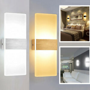LED-Wall-Light-Home-Decor-amp-Bulb-6W-12W-Indoor-Bathroom-Wall-Lamp-Sconce