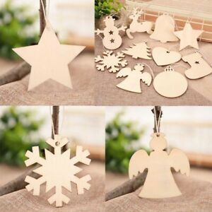 10Pc Wooden Hollow Big Tree Shaped Embellishments for DIY Hanging Ornament Craft