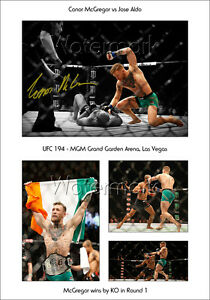 3795f706f56 Image is loading CONOR-MCGREGOR-SIGNED-PRINT-POSTER-PHOTO-UFC-194-