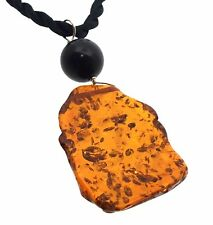 Very Witchy Jet and Faux Pressed Amber Necklace