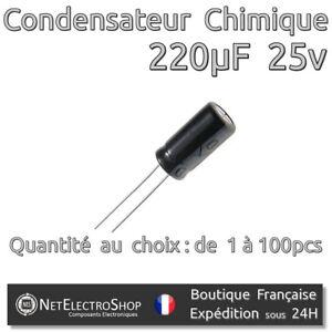 Lot of 3 chemical capacitors radial 470uf 470µf 25v 105 ° c panasonic