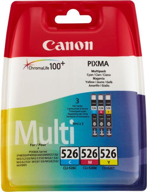 Canon CLI-526 3  Tintenpatrone Multipack C/M/Y für Pixma Inkjet Drucker