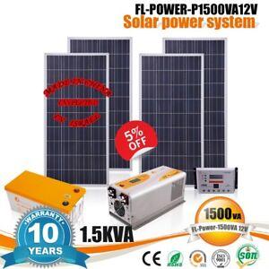 Details about 1 5KVA Solar panel system 110V / 220V AC solar energy Free  electricity DIY KIT
