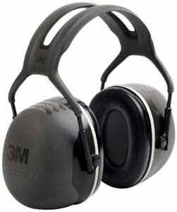 3M Peltor X-Series Over-the-Head Earmuffs, NRR 31 dB, One Size Fits Most, Black