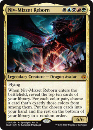 1x Niv-Mizzet Reborn NM-Mint English War of the Spark MTG Magic