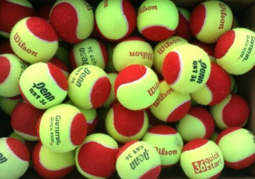 50 used LOW COMPRESSION children/'s assorted brand red tennis balls  QUALITY