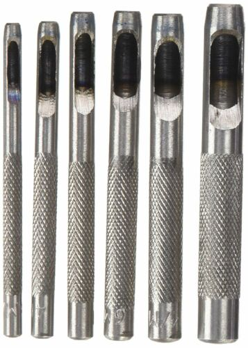 Silverline Hollow Punch Set 6-Piece 667372 Carbon Steel Ideal for Crafts Wood