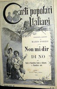 SPARTITO-CANTI-POPOLARI-ITALIANI-NON-MI-DIR-DI-NO-MARIO-FORESI