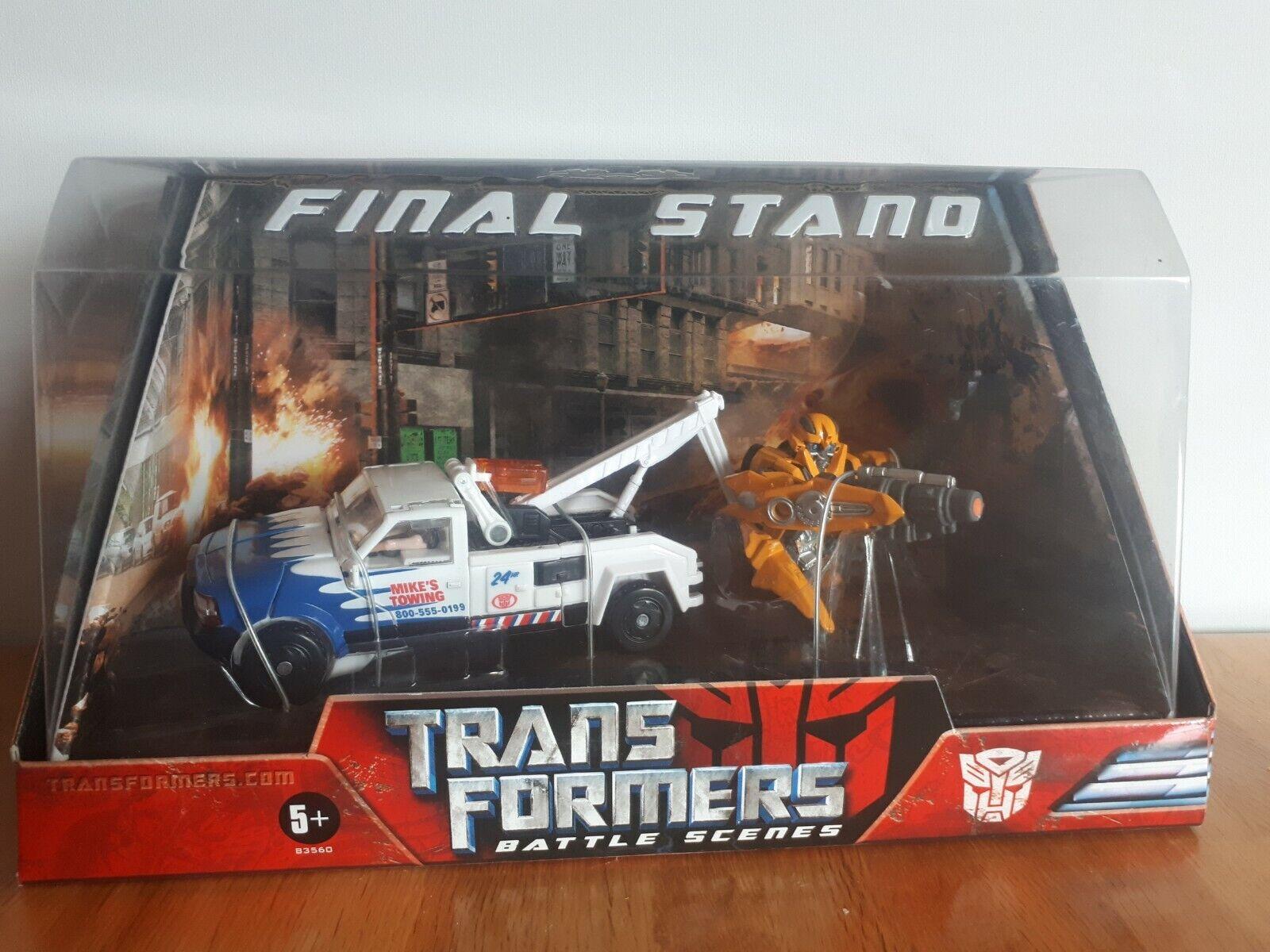 Transformers-Bumblebee & Longarm-escena de batalla final de pie Película Figura Set