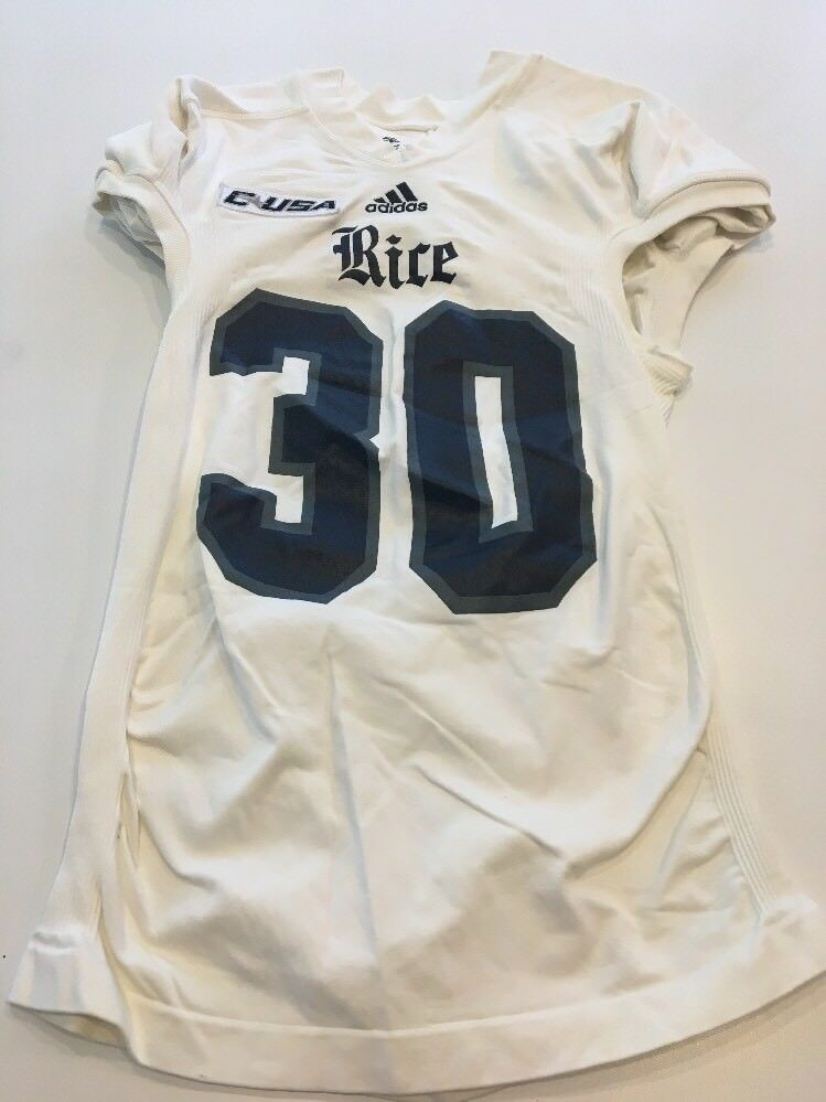 Game Worn Used Size Adidas Rice Owls Football Jersey Size Used L Rahman 4e29ce