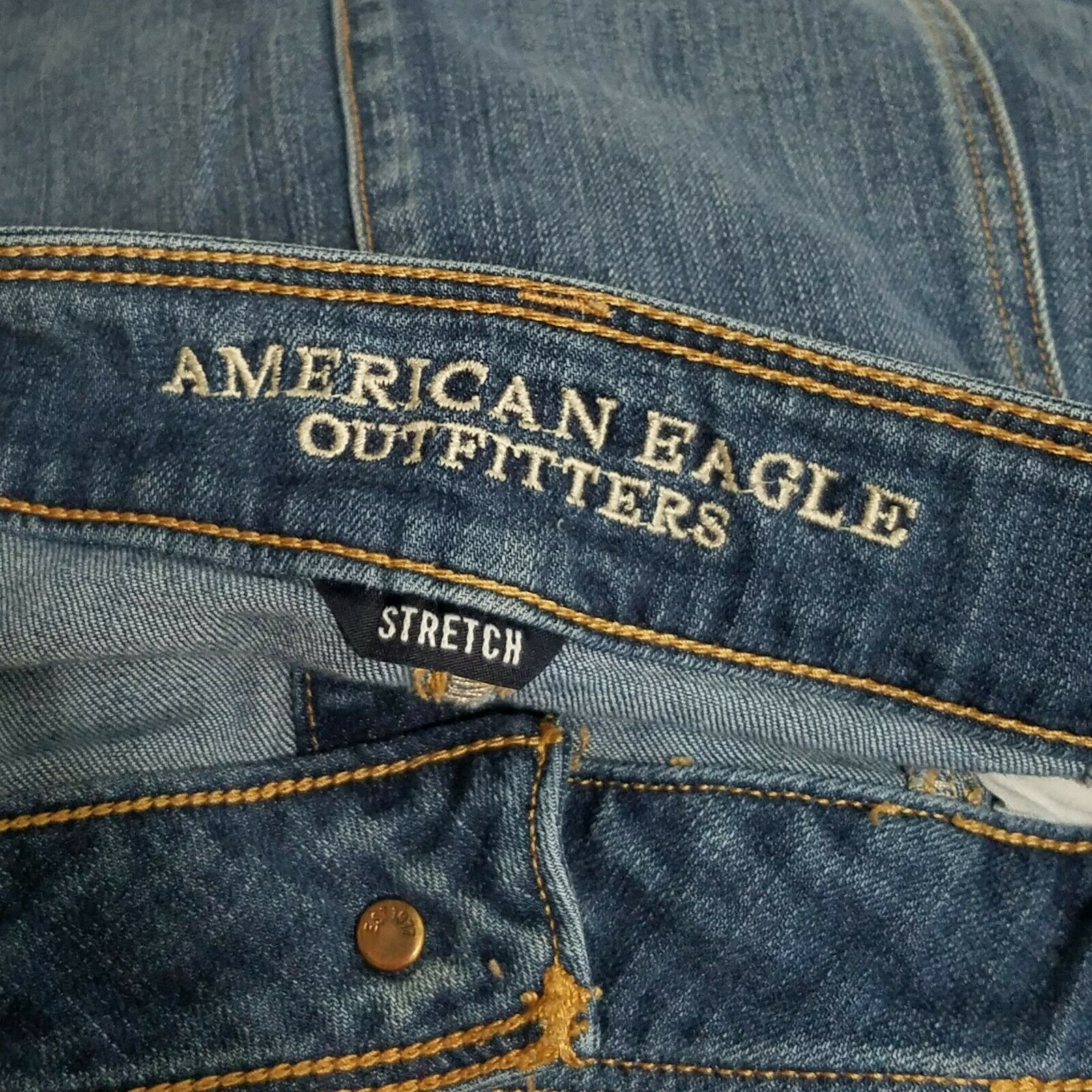 American Eagle Button Front Denim Mini Skirt Wome… - image 2