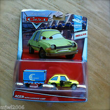 Disney PIXAR Cars ACER WITH LUGGAGE CART diecast 2015 AIRPORT theme 3/6 DELUXE