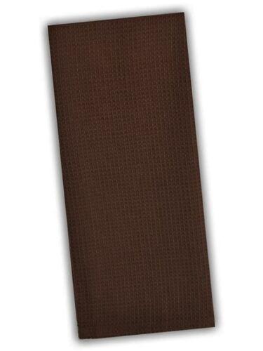 Set of 2 Dark Chocolate Brown Waffle Weave 100/% Cotton Kitchen Dish Towels