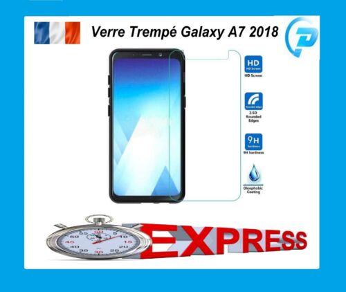 SAMSUNG GALAXY A7 2018 A750 COQUE HOUSSE FILM VERRE TREMPE ECRAN PROTECTION