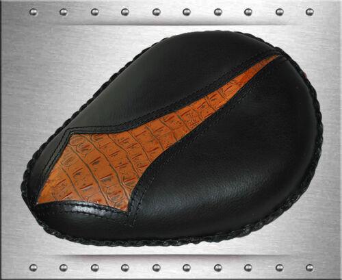 Springs Set La Rosa Chopper Black Leather Diamond Alliagtor Emboss Solo Seat