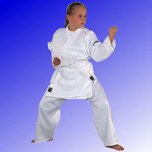 Karateanzug-Junior-Karate-Anzug-Karategi-weiss-Anfaenger-Kinder-KWON-Gr-90-200