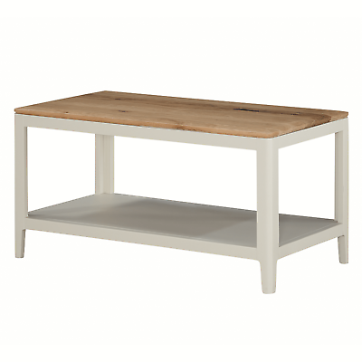 Modern White Coffee Table Narrow Painted Coffee Table With Solid Oak Top New Ebay