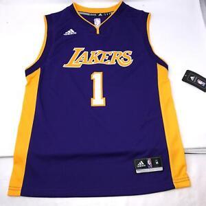Lakers NBA Adidas Purple Youth Jersey #1 Russell Youth Size Medium ...