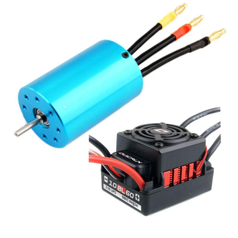 RC HSP 107051  03302  BRUSHLESS 540 Motor 3300KV + HW QUICRUN ESC 60A WP-10BL60