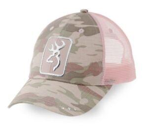 e7c56e99d7f Womens NWT Browning Buckmark Digby Cap Camo Pink Mesh Snap Back Hat ...