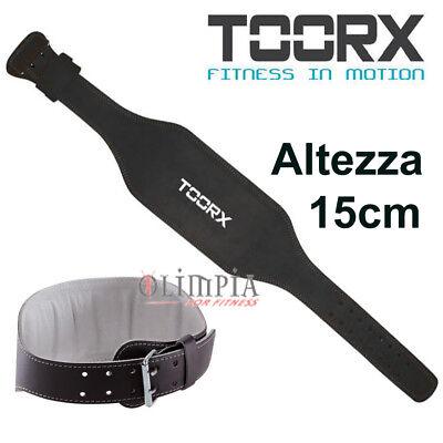Toorx - Cintura Pesi Pesistica Per Palestra Stacchi Schiena - Altezza H.15cm Asciugare Senza Stirare