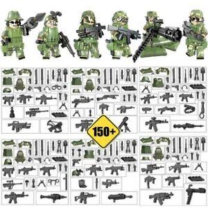 Bausteine-Figur-Militaer-Soldaten-Waffen-Ausruestung-Krieg-6PCS-Geschenk-Toys-Gift